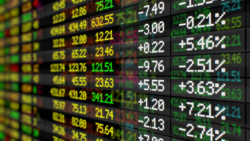 Beautiful Stock Market Board Moving Up Seamless. Looped 3d animation. 4k UHD 3840x2160. | Shutterstock HD Video #31493347