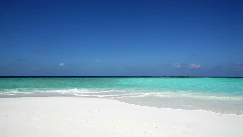 Beautiful tropical beach in the Maldives islands