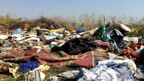 Illegal Dumping Clothes