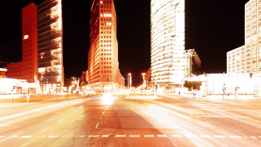 City traffic at night time lapse | Shutterstock HD Video #31550485