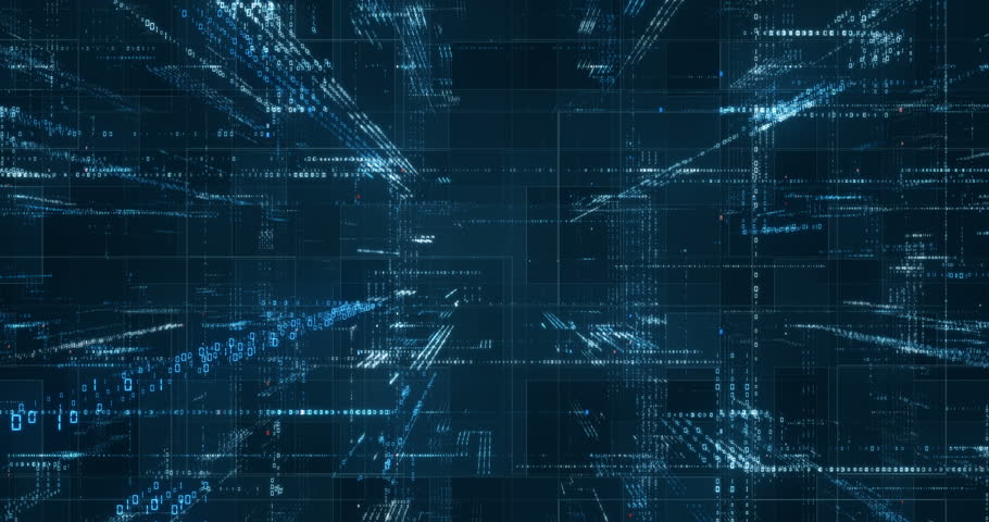 Digital binary code background loop - Fly through abstract 3D rendering of a scientific technology data binary code network conveying connectivity, complexity and data flood of modern digital age | Shutterstock HD Video #31579312