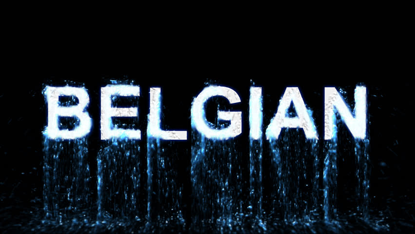 Name BELGIAN appears from the water, then disappears. Transparent alpha channel. 3D rendering | Shutterstock HD Video #31591285
