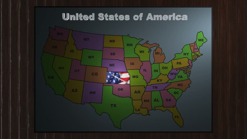 oregon pull out from usa states abbreviations map stock footage us map states abbreviated