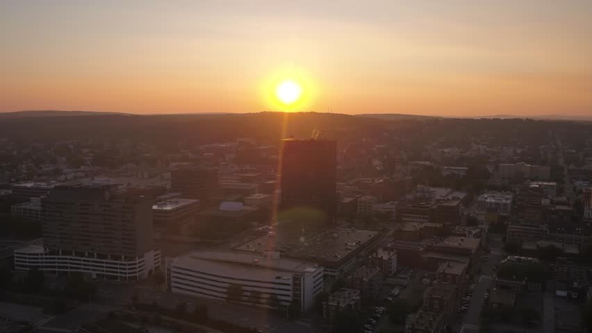 Aerial New Hampshire Manchester July 2017 Sunrise 4K Inspire 2