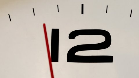 White clock face HD stock footage. Close up of a white clock face suggesting the passing of time.