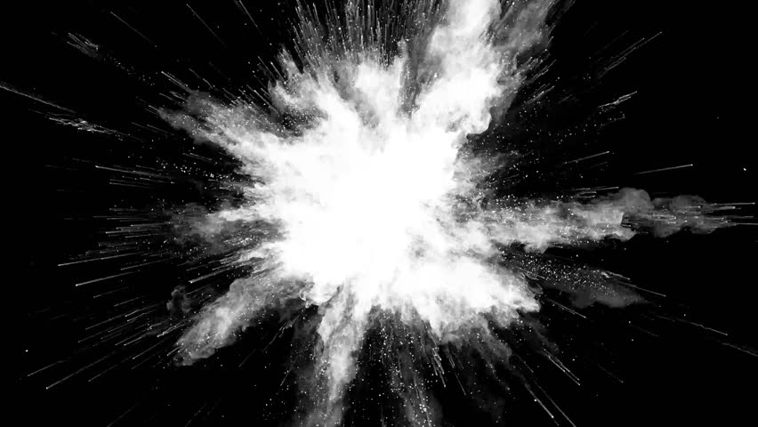 Animation of color powder explosion on black background. Slow motion movement with acceleration in the beginning. | Shutterstock HD Video #31700365