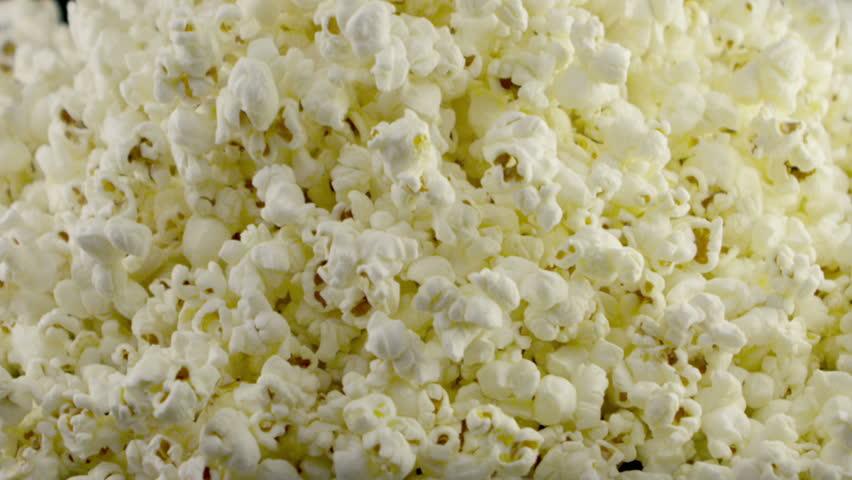 popcorn falling in slow motion