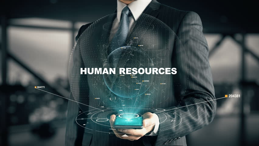 Businessman with Human Resources