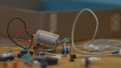 Arduino starter kit box component rack focus