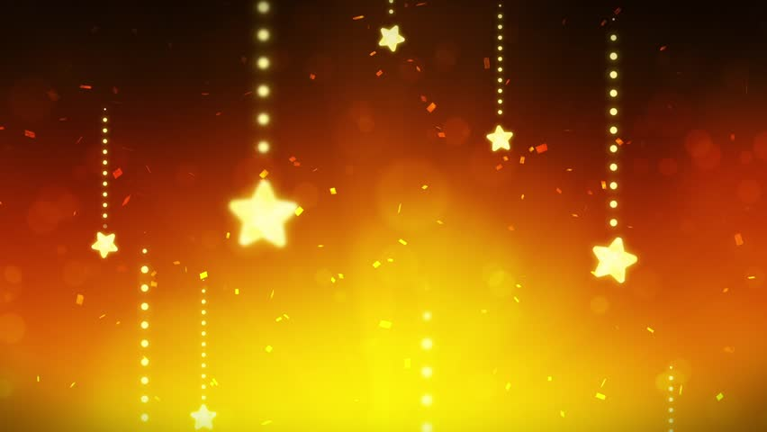 Bright and Shining Stars, CG Loop Animation, Yellow, | Shutterstock HD Video #31868215