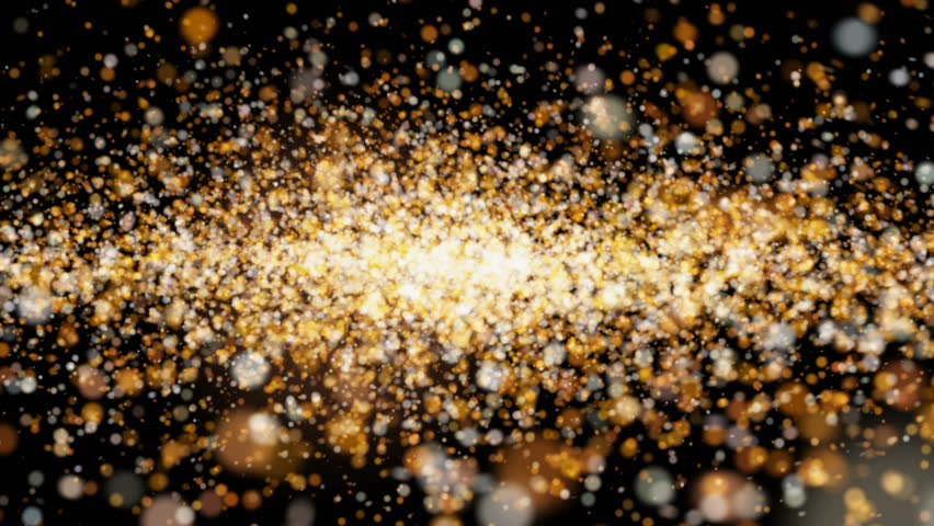 Beautiful animation flying shiny glitter flickering particles on a black background alpha channel | Shutterstock HD Video #31872451