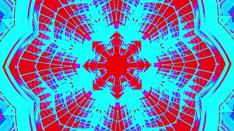 Psychedelic visual background. Beautiful Kaleidoscopic mandala. 4K