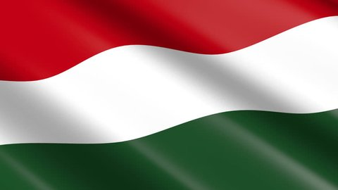Flag of Hungary (seamless loop)