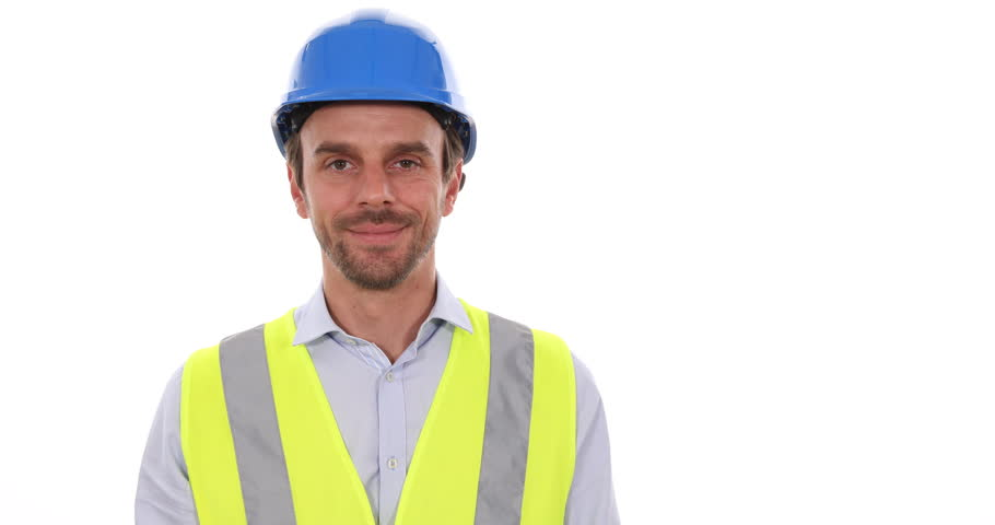 Happy Worker Man Looking Camera Positive Show Euro Bills Money Isolated White | Shutterstock HD Video #31909375