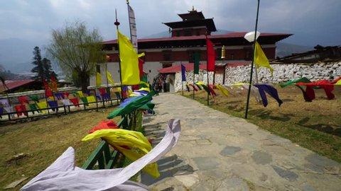 THIMPHU/BHUTAN/MARCH 19 2016: Streets in Thimphu, Bhutan.