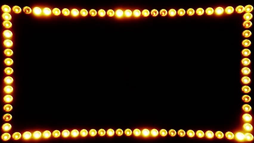 Frame Of Light Bulbs For A Film Border Stock Footage Video ...