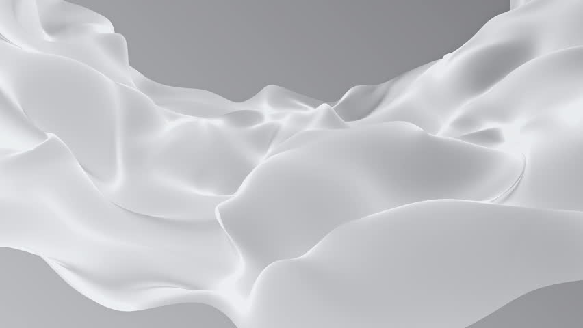 Abstract background waving with silk surface to the wind. Clear backdrop of ripple fabric. Beautiful abstraction of glowing cloth. Animation of seamless loop. | Shutterstock HD Video #32010295