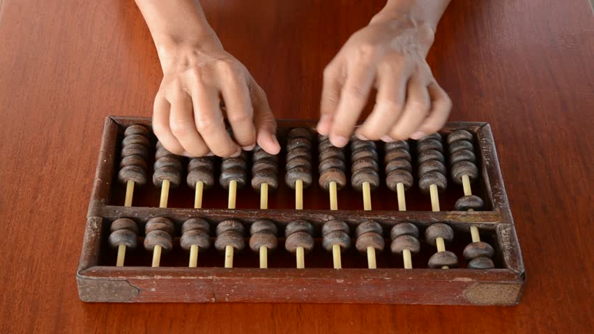 chinese abacus  is a calculating tool used primarily in parts of Asia for performing arithmetic processes.