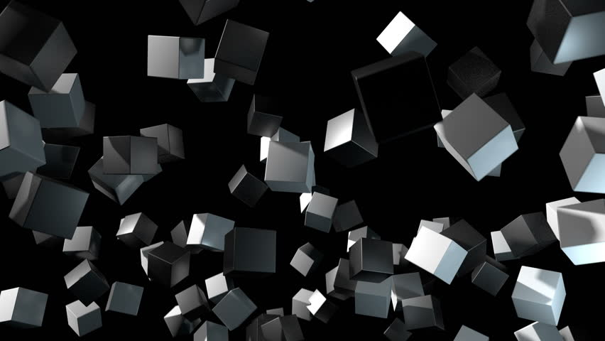 3D animated background depicting random positioned cubes rotating and aligning to form a patterned grid. | Shutterstock HD Video #32042005