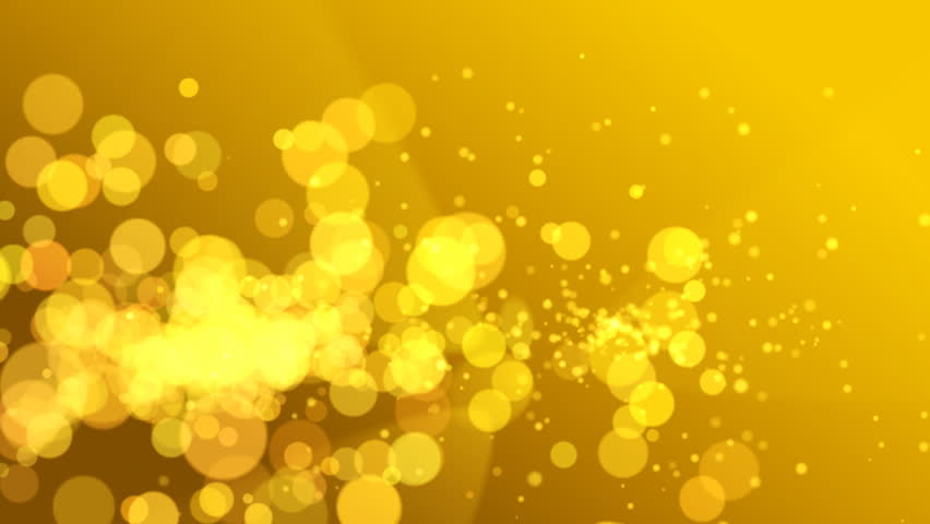 Abstract Background, Yellow Lights, Full HD Stock Footage