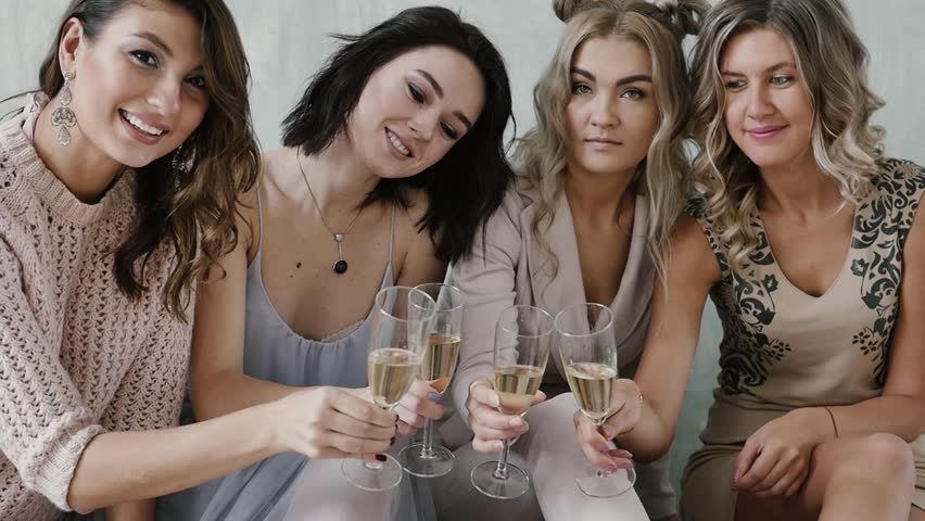 Slow New Year, Christmas, young girls celebrate, slowmotion | Shutterstock HD Video #32070880