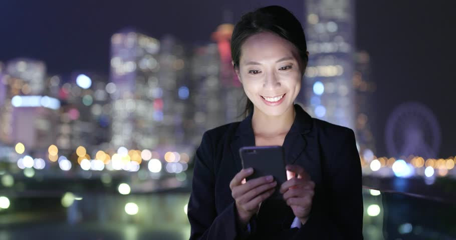 Business woman use of smart phone in city  | Shutterstock HD Video #32074939
