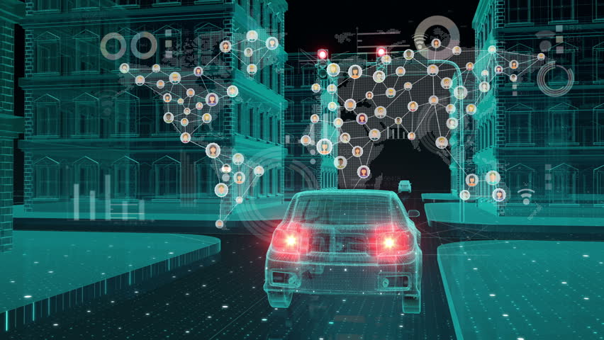 IoT car connect traffic information icon, making world map, control system, Internet of things concept.1. | Shutterstock HD Video #32093665