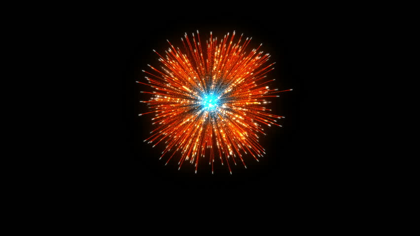 Single Firework On Black Background | Shutterstock HD Video #32099875