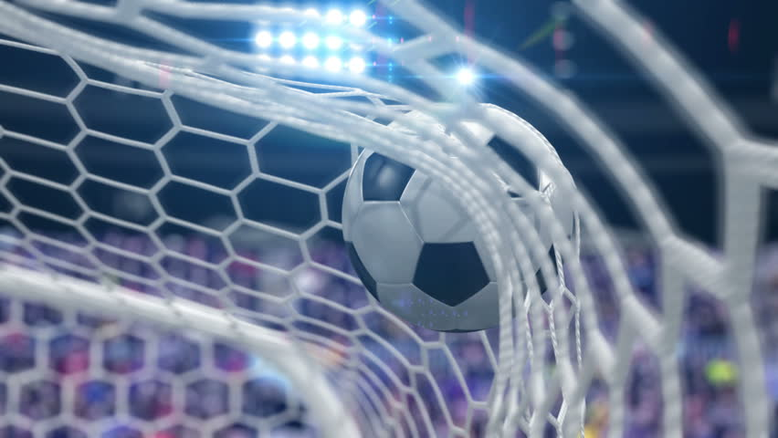 Goal!!! Soccer Ball Flies into the Goal. Beautiful 3d animation, 4K. look for more options in my portfolio #32109955