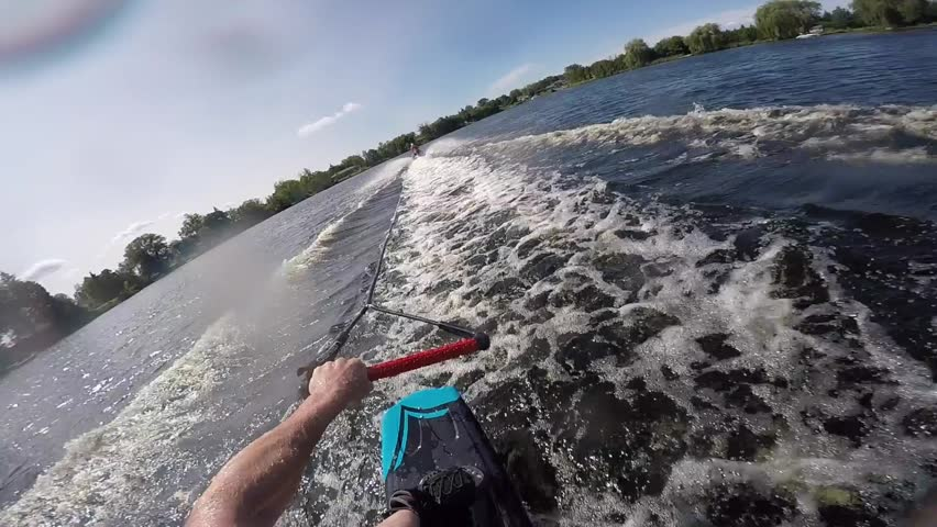wakeboard pov rock on hand signals and thumbs