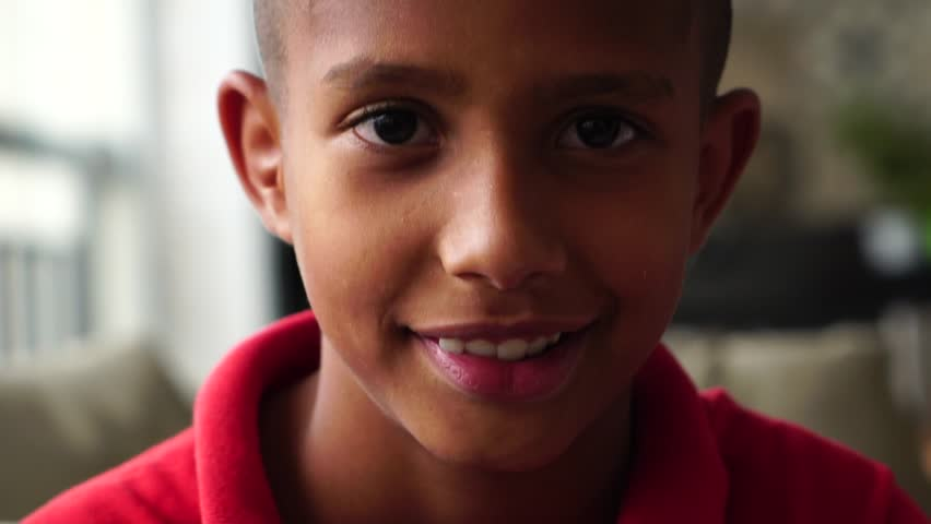 Portrait of Boy Looking to the Camera