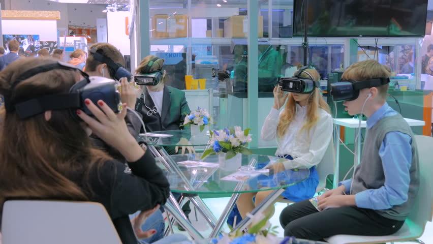 D Virtual Reality Exhibition : Moscow russia september vidéos de stock libres de