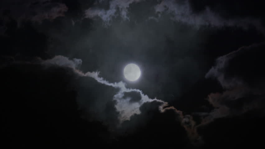 Full moon and clouds | Shutterstock HD Video #32190472