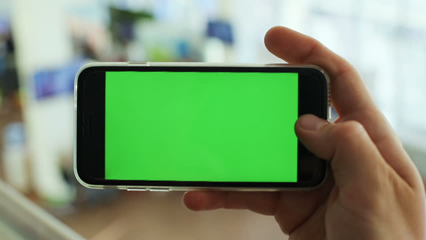 male person hand horizontal keeping holding green screen smartphone chroma key mockup telephone mobility concept connecting internet webpage digital gadget man businessman video call photography 3g