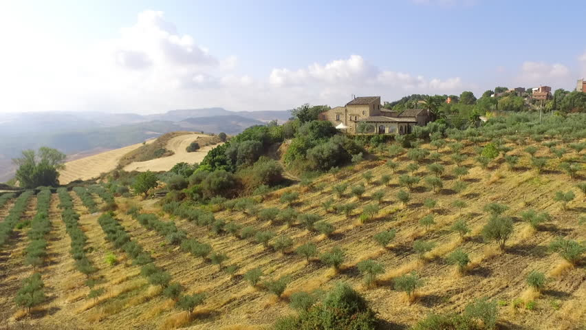 Sicilian countryside deep in the middle of italian Island