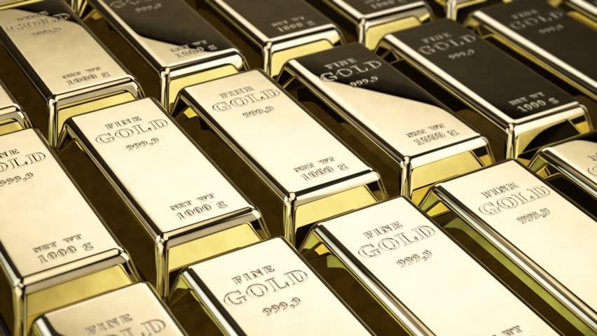 Fine gold bars loop
