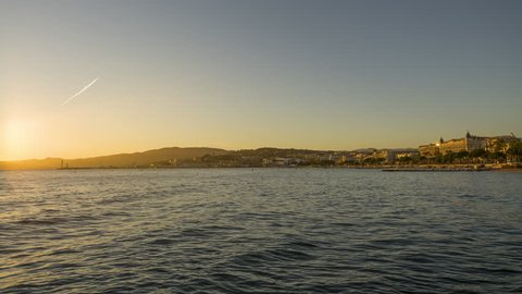 Timelapse of the Sunset over bay of Cannes