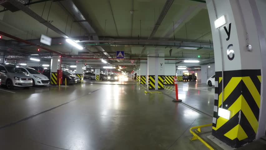 Car Drives Through Shopping Mall