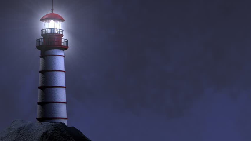 Looping Night Lighthouse Beam