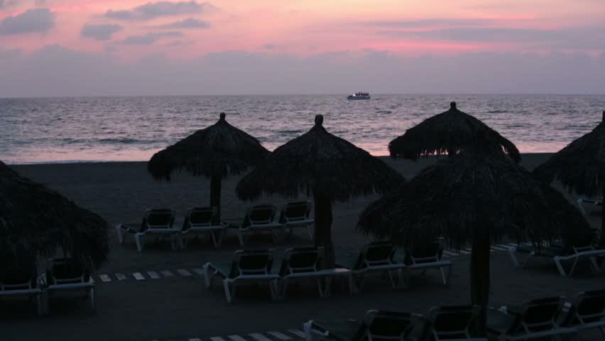 Tropical Sunset Cruise Cabana Umbrella