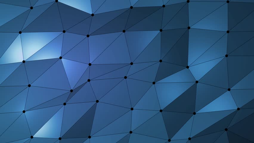 Dark blue creative shining geometric triangular background animation in Origami style. | Shutterstock HD Video #32419045