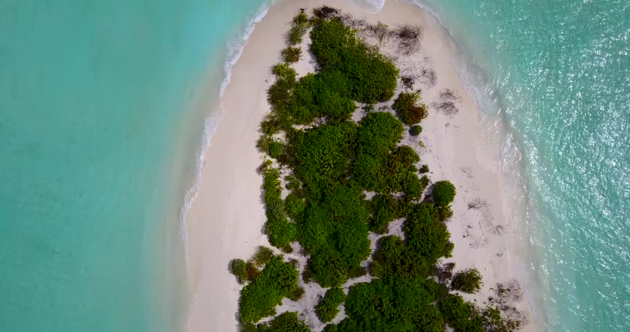 V13663 maldives white sand beach tropical islands with drone aerial flying birds eye view with aqua blue sea water and sunny sky | Shutterstock HD Video #32458795