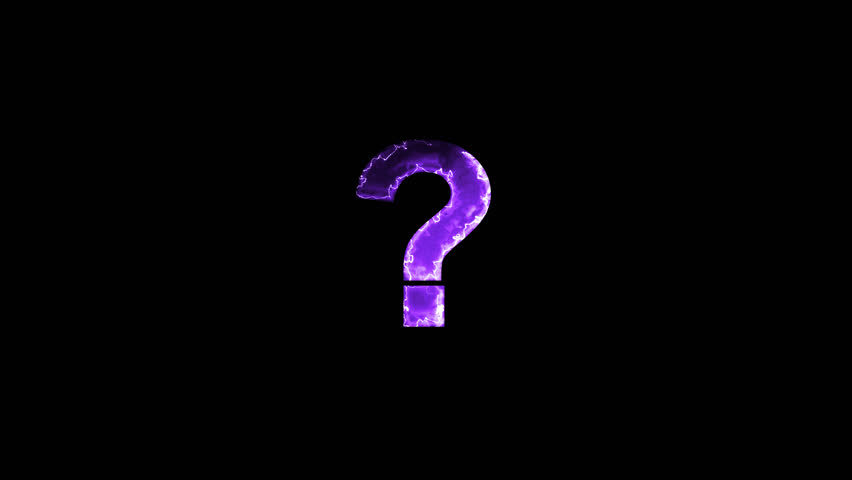 Luminous and shimmering haze inside the letters of the symbol of the question, ?. Transparent, Alpha channel   Shutterstock HD Video #32486665