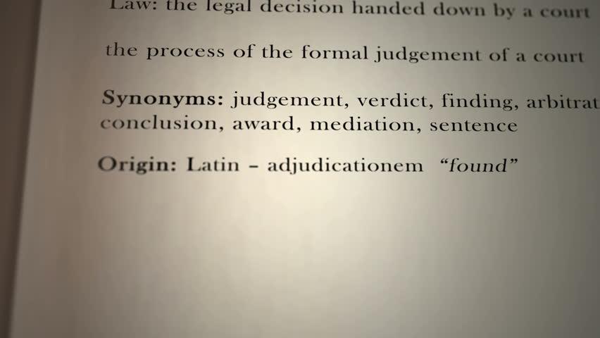 Header of adjudication