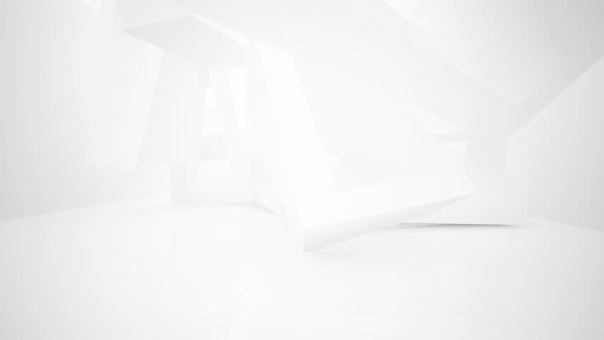 Abstract White Interior Highlights Future. Architectural Background. 3D  Animation And Rendering. Part 3