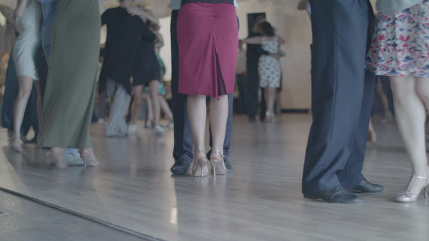 KYIV, UKRAINE - SEPTEMBER 22, 2017. The dance floor. The feet of people who dance tango. Apple ProRes 422 HQ | Shutterstock HD Video #32635285