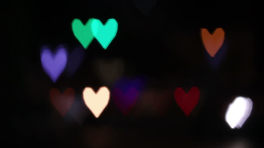 Heart Shaped Blurred Lights. Valentine Day Stock Footage Video 3269105 |  Shutterstock