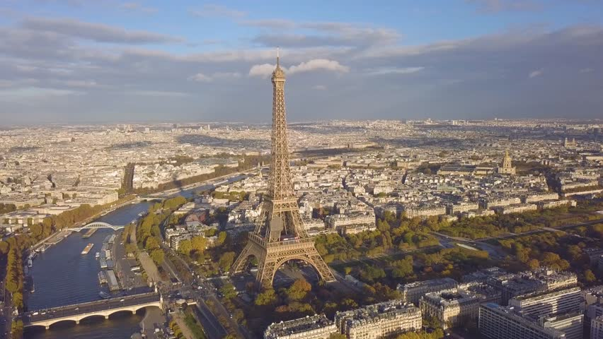 Cityscape of Paris. Aerial view of Eiffel tower | Shutterstock HD Video #32797111