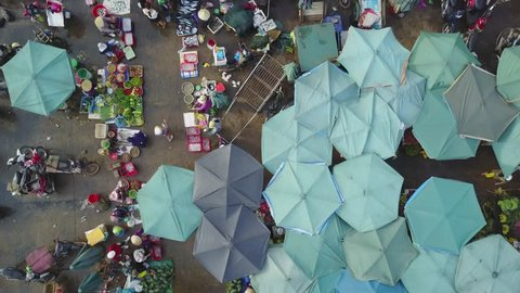 Looking down on fish market,Dong Hoi,Vietnam