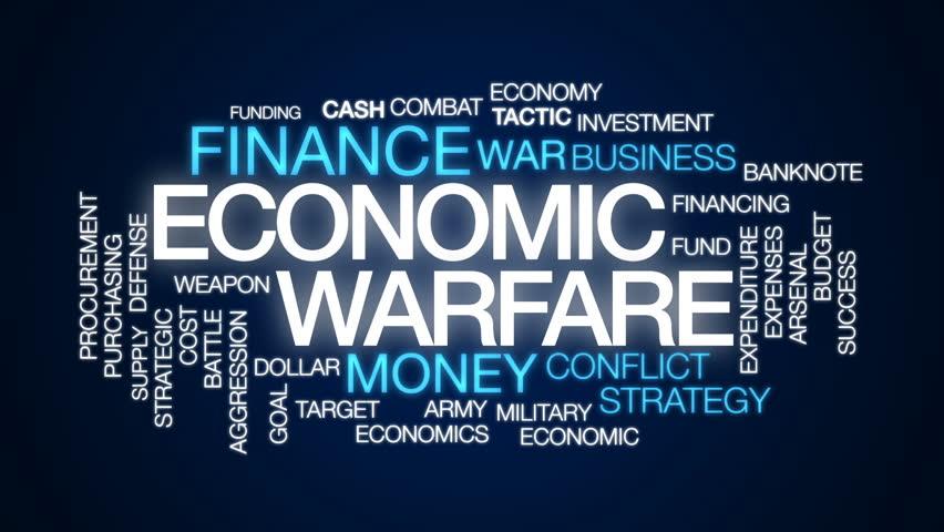 Economic warfare animated word cloud, text design animation. | Shutterstock HD Video #32834170